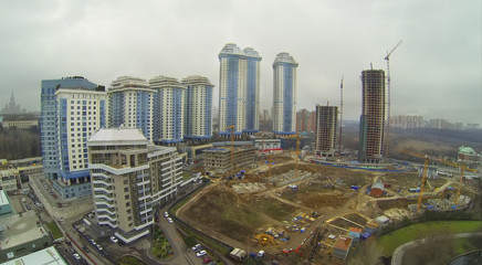 Residential complex and construction site