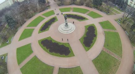 Monument to Mikhail Lomonosov, aerial view.