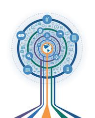 Business Digital marketing tree shape