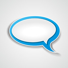 Vector blue speech bubble