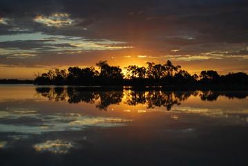 sunset reflexion