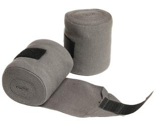 horse grey knitwear bandages isolated on white