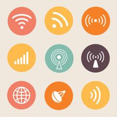Wireless icon Vector illustration.