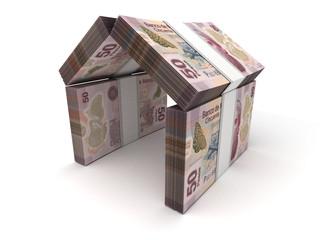 Real Estate Concept Mexican Pesos