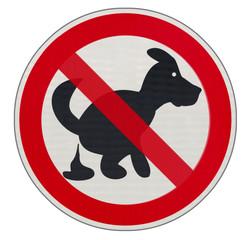 panneau interdiction aux chiens  de crotter les rues