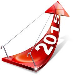 2015 Red Positive Arrow