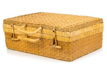 valigia in vimini chiusa