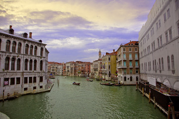 Colourful city of Venice in Italy