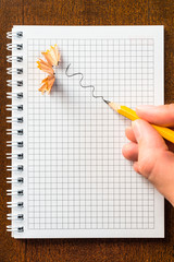 Draw a sharpened pencil