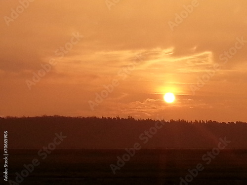 canvas print picture Sunset