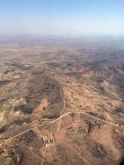 Vue aérienne de la campagne de Madagascar