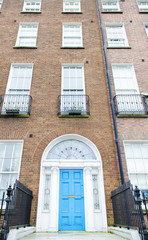Colorful Georgian doors in Dublin (sky blue)