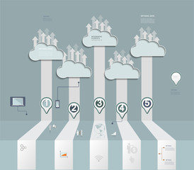 Cloud Hosting.Cloud Computing concept