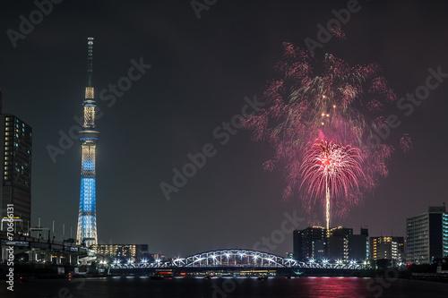 Fotobehang Tokyo 隅田川花火大会