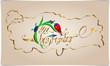 Kaligrafi; Dekoratif Bayram Tebriği Altın Yazma