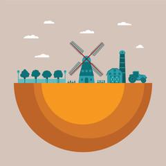 Vector concept of farming process