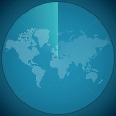 Vector illustration concept of world map