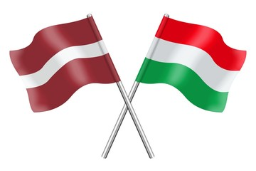 Flags: Latvia and Hungary