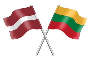 Flags: Latvia and Lithuania