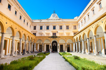 Quadrangle of the law faculty , University of Palermo. Sicily.