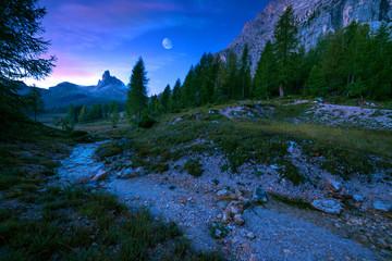Becco di Mezzo mystical landscape of mountain