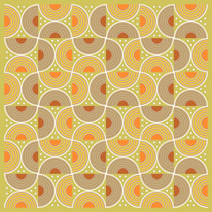 Textile pattern with round elements