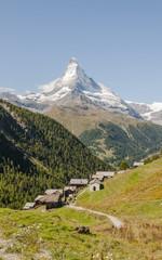 Zermatt, Bergdorf, Schweizer Alpen, Findeln, Weiler, Sommer