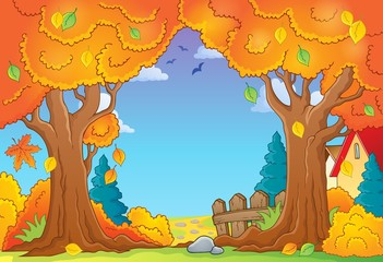 Autumn tree theme composition 1