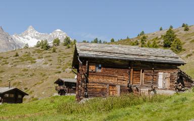 Zermatt, Bergdorf, Findeln, Weiler, Alpen, Sommer, Schweiz