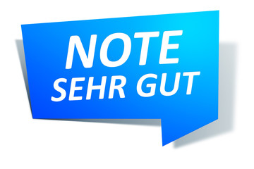 Web Element Note sehr gut
