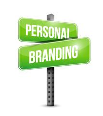 personal branding street sign illustration design