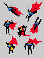 Superhero set of different poses