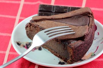 Fetta di torta al cioccolato