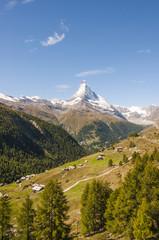 Zermatt, Bergdorf, Schweizer Alpen, Alm, Findeln, Sommer