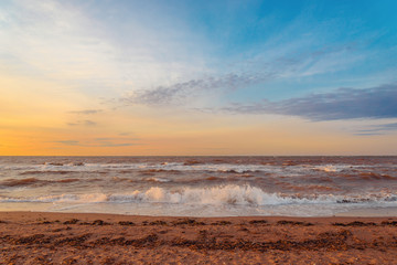 Ocean beach in the morning