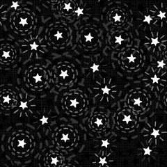 świecące gwiazdy nocne niebo nieskończony deseń czarne tło