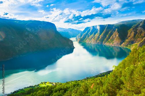 Staande foto Scandinavië Norway Nature Fjord Sognefjord