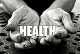 Health concept in the old female hands
