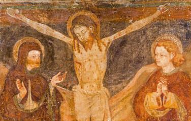Padua - The folk art paint of Crucifixion