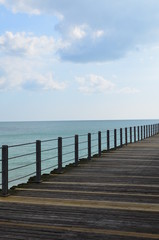 Decking on Victorian pier at Bognor Regis.