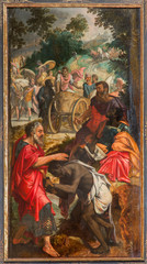 Antwerp - paint of Baptism of the Ethiopian Eunuch by Philip