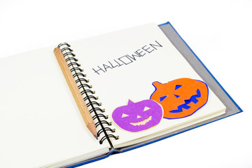 Halloween notebook concept