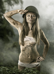 Army sexy girl