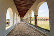 exterior corridor in the Izamal convent