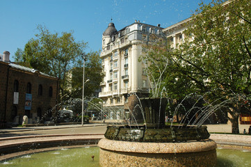 Fontana nel centro storico di Sofia, Bulgaria
