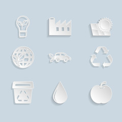 Paper Ecology Icons Set