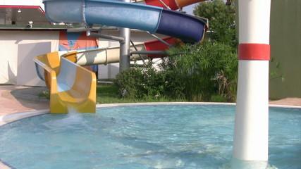 Aqua park water slide
