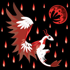 Dragon and bloody rain