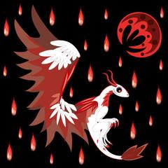 Dragon and bloody rain