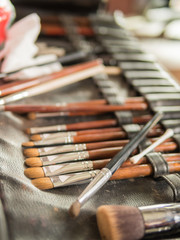 Various Make-up Brushes for the bride in Wedding Ceremony